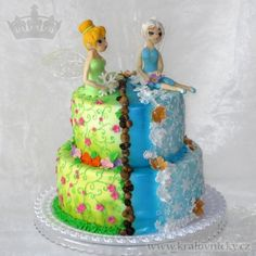 Tinkerbell and Periwinkle - Cake by Eva Kralova
