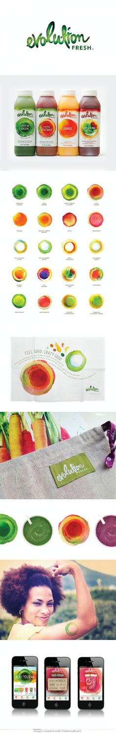 Food infographic Evolution Fresh Infographic Description Branding and packaging that captures the vibrant visual appeal of the product, creating a fun and Corporate Design, Brand Identity Design, Graphic Design Branding, Label Design, Corporate Identity, Visual Identity, Juice Packaging, Beverage Packaging, Brand Packaging