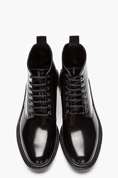 Saint Laurent black patent army 29 boots | Follow the DI FORM @thediform Instagram di-form.tumblr.com/