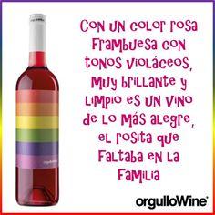 Brindar con una copita de rosado Vino Orgullowine es brindar con un vino único y diferente  #BeTrue