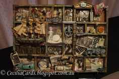 Cecilia's Cards: Tim Holtz. Wow The boat/tall ship is amazing.