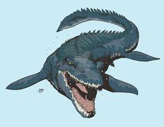 Mosasaur (Fallen Kingdom) by Michiragi on DeviantArt Dinosaur Sketch, Dinosaur Art, Jurassic World Dinosaurs, Jurassic Park World, Dinosaur Wallpaper, Attack On Titan Art, Jurassic World Fallen Kingdom, Spinosaurus, Falling Kingdoms