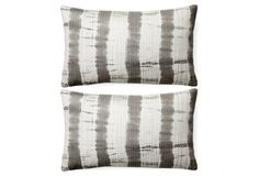 S/2 Lala 12x20 Cotton Pillows, Gray 12 x 20    set of 2 $95       tie dye   cotton  would look nice on armless gray chairs?