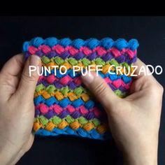 Punto puff cruzado tejido a crochet! Diagrama o patrón :)