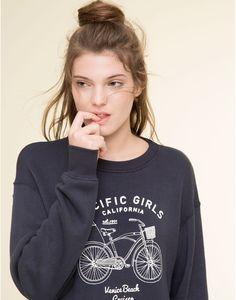 Bike Print Sweater M // pull & bear