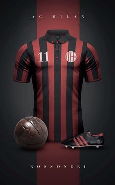 """See 19 photos and 2 tips from 258 visitors to AC Milan. """"AC Milan: the Most titled Team in the World ! Milan Football, Retro Football, World Football, Vintage Football, Soccer Kits, Football Kits, Football Jerseys, Ac Milan, Camisa Retro"""