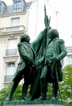Frédéric Auguste Bartholdi Washington et Lafayette (1890) Place des Etats-Unis Paris - France