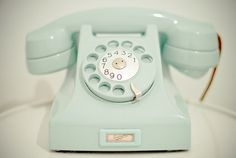 vintage telephone AND it's turquoise? YES.