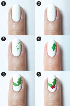 The 13 Steps Needed For Putting Christmas Nails Design Step By Step Into Action Nail Art Noel, Xmas Nail Art, Xmas Nails, Holiday Nails, Diy Nails, Nail Nail, Christmas Tree Nail Art, Cute Christmas Nails, Christmas Nail Art Designs