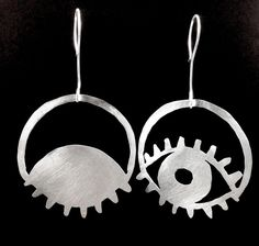 ARABIC NIGHT, sterling silver earrings by #POLAOSLO Design at www.polaoslodesign.com