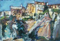 "Saatchi Art Artist Lulu Hancock; Painting, ""Cuenca. Abstract Art Museum, Spain."" #art"