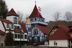 Helen Ga - a delightful little Alpine village in north Georgia.  Best and worst time to visit: Oktoberfest!