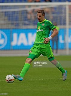Sebastian Coates of Sunderland during a Pre-Season friendly match between Hannover 96 and Sunderland AFC at the HDI Arena on August 01, 2015 in Hannover, Germany.