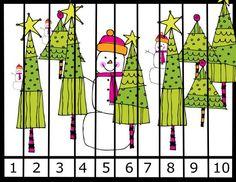 PreschoolPowolPackets Shop - | Teachers Notebook Hiding Snowman number puzzle free