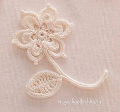 Collection of Irish lace motifs of Japanese magazine Irish Crochet Lace