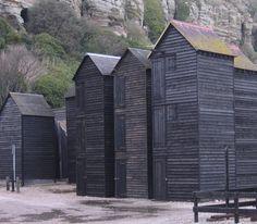 fishermen's huts, hastings, england