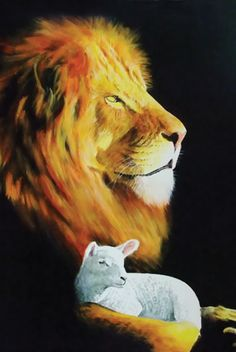 Still looking for the perfect way to get a lion and lamb tattoo... I like the idea of the silhouette.: )