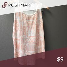 Tribal print tank top Light pink tribal print tank top. Like new condition Forever 21 Tops Tank Tops