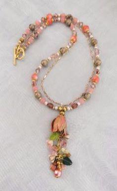 """""""Tulip Drop"""" necklace & earrings  $30"""
