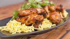 Recipe from Everyday Gourmet with Justine Schofield Chicken Pork Recipe, Sweet Chili Chicken, Apricot Chicken, Sweet Chilli, How To Cook Chicken, Chicken Recipes, Duck Recipes, Asian Recipes, Healthy Recipes