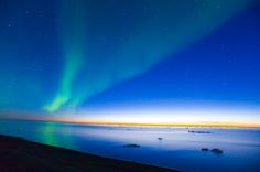 picture of Aurora Borealis Sunset Sea Arctic National Wildlife Refuge Image