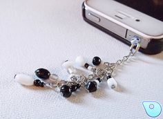 Cellphone charm Plug black and white by CervelleDoiseau on Etsy, $5.00