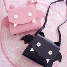 Pink/black wings kawaii bag SE8025