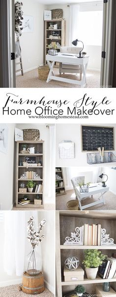 Style Office - Blooming Homestead Create a farmhouse style home office using items from Better Homes & Gardens at Walmart.Create a farmhouse style home office using items from Better Homes & Gardens at Walmart. Guest Room Office, Home Office Space, Home Office Design, Home Office Decor, Home Decor Bedroom, Diy Home Decor, Office Ideas, Office Style, Office Spaces