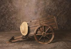Laeacco Photography Backgrounds Oil Paiting Old Wooden Wheel Carriage Flowers Baby Newborn Photo Backdrop Photocall Photo Studio Fall Photography Props, Barn Photography, Background For Photography, Photography Backdrops, Newborn Photography, Photography Backgrounds, Wooden Cart, Digital Backdrops, Custom Backdrops
