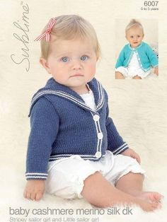 This baby sailor knitting pattern is a pdf download that includes two different…