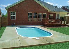 Kingston Small Pool Style  Size: 11' x 20' Depth: 3' x 5'