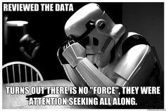 Sad Storm Trooper reviews the data