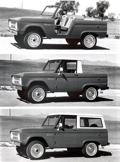 ... The original Bronco was available as a modular SUV, and acted as a pickup,