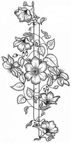 Flower coloring pages, craft patterns, cross stitch embroidery, hand embroidery patterns, ribbon Hand Embroidery Patterns, Vintage Embroidery, Embroidery Stitches, Embroidery Designs, Flower Coloring Pages, Coloring Book Pages, Parchment Craft, Pyrography, Fabric Painting