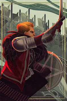 A tarot card of Cullen from Dragon Age: Inquisition - fan art