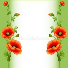 Background with bright flowers poppy for advertising 2 Clipart, Frame Clipart, Art Floral, Flower Frame, Flower Art, Boarders And Frames, Boarder Designs, Art Carte, Minnie Png