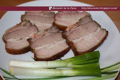 Kaizer / pastrama de porc de casa :: Bunatati de la Oana Romanian Food, Smoked Bacon, Smoking Meat, Yams, Charcuterie, Tuna, Sausage, Steak, Good Food
