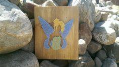 Tinker Bell String Art sign by Naileditartbydian on Etsy