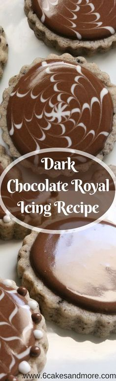 Dark Chocolate Royal Icing Recipe! #darkchocolate #chocolate #recipe #royalicing #royalicingrecipe