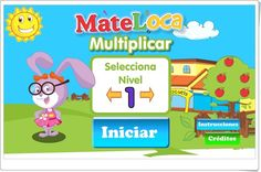 """""""Multiplicar"""", de cluboca.com, es un atractivo juego en el que practicar sencillas multiplicaciones mentalmente. Con cuatro niveles de dificultad, aunque son todos muy sencillos, por lo que es adecuado para la iniciación al aprendizaje de la multiplicación en 2º nivel de Educación Primaria."""