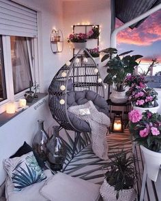 comfy apartment balcony decorating ideas on a budget 2019 page 12 – Home Decor Ideas – Grandcrafter – DIY Christmas Ideas ♥ Homes Decoration Ideas Small Balcony Decor, Small Balcony Design, Balcony Ideas, Balcony Decoration, Modern Balcony, Outdoor Balcony, Outdoor Spaces, Small Balcony Garden, Conservatory Ideas