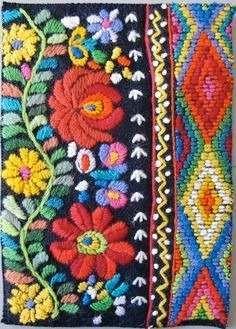 kit de bordado mexicano - rosario - excelente calidad.