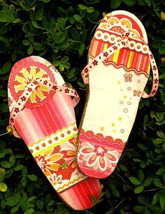 Cool Cardboard flip flops