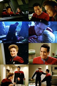 The hug, Chakotay cry face, the flower. Why do you do this to me show? #otp