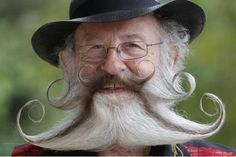 2012 European Beard and Moustache Championships - is that seriously his mustache? That's amazing.