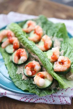 Shrimp and Hummus Le