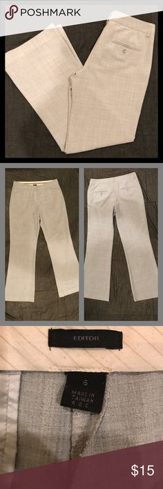 Express Editor Pants Size 6 Light Gray Express Editor Pants.  Regular Length.  In great pre-owned condition. Express Pants