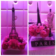 Flowers by Butterfly Floral in Los Angeles. French bridal shower. Paris theme.