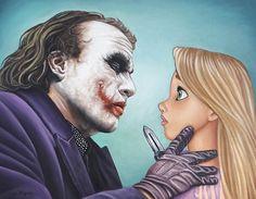 O artista Rodolfo Loaiza Ontiveros criou um trabalho inusitado, no qual promove o encontro entre vilões de filmes com as princesas da Disney.