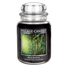 Village Candle Large Jar - Black Bamboo